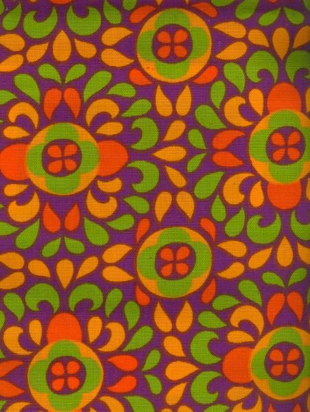 Vintage Finnish Finlayson Fabric designed in 1968 by Pirkko Korkeamäki.