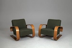 """Pair of """"Tank"""" Chairs"""