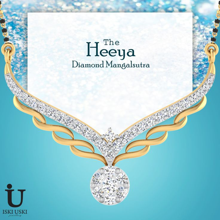 For something unique and special, shop our Diamond Mangalsutra Collection in our festival sale!..#mangalsutras #goldmangalsutra #diamondmangalsutra #IskiUski