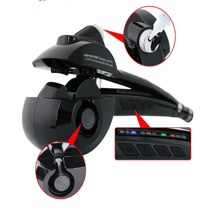 LCD Screen Automatic Hair Curler With Steam Spray Ceramic Wave Wand Easily Curl Out Tool rizador de pelo automatico EU US Plug #Affiliate