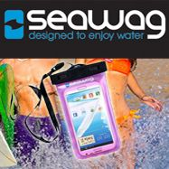 Seawag phone cover featured in Black & Purple.. #designedtoenjoythewater #SeawagAustralia