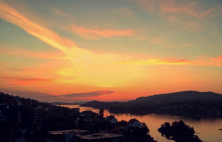 Bergen Norway Sunset view summer