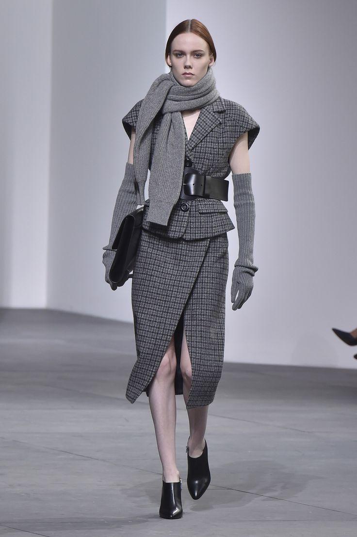 Michael Kors' ladylike take on the menswear fabric.