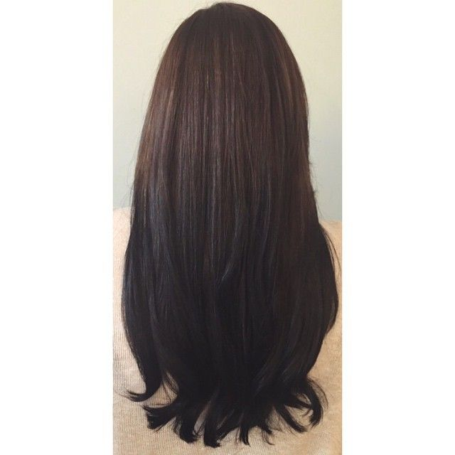 Chocolate Brown To Black Ombre Hair Coloring Ombre