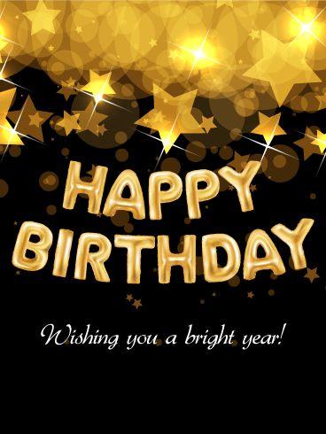 Bright Star Happy Birthday Card
