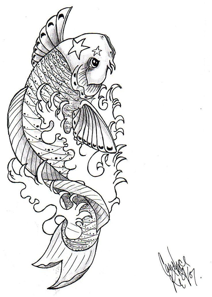 koi fish drawings koi fish by