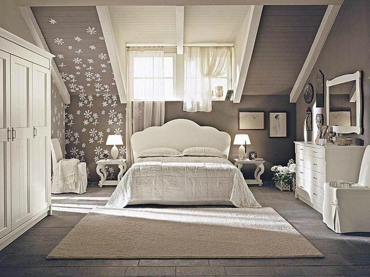 спальня в мансарде дизайн фото - Поиск в Google
