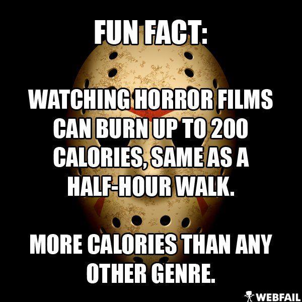 Horror films burns calories! - Win Picture | Webfail - Fail Pictures and Fail Videos