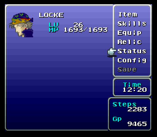final fantasy 6 item menu