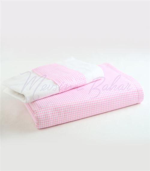 Bebek Battaniyesi ve Yastık Takımı Pembe