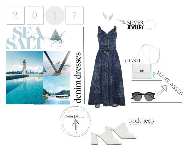 """Sea Salt"" by twizzier ❤ liked on Polyvore featuring Peter Pilotto, Maryam Nassir Zadeh, Chanel, Illesteva, Summer, denim, beach and vacation"
