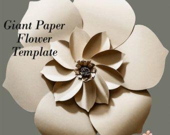 Tutorial flor Telón de fondo de flor papel plantilla por PaperFlora