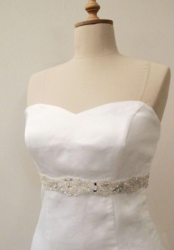 Kristall Perlen Bridal Gürtel Hochzeit Schärpe Gürtel von gebridal