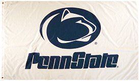 PENN STATE NITTNEY LIONS FLAG ... WHITE by Sportsworld. $12.75. BRASS GROMMETS. Vivid Colors. double stitched. Premium Heavy Duty Polyester/Nylon 3'x5' Flag. Premium Quality. PENN STATE NITTNEY LIONS FLAG