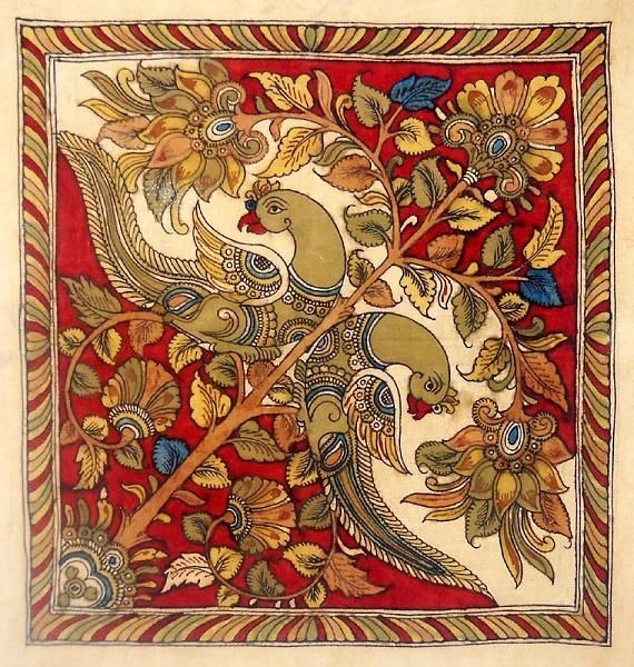 Indian Painting Styles...Kalamkari Paintings (Andhra Pradesh)-kalamkari-peacock1-2-.jpg