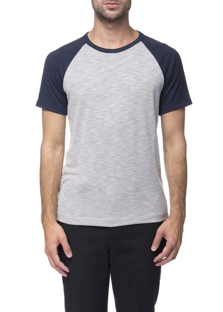 Theory - Menswear - FW16 // Navy and grey Dustyn B. t-shirt in modal