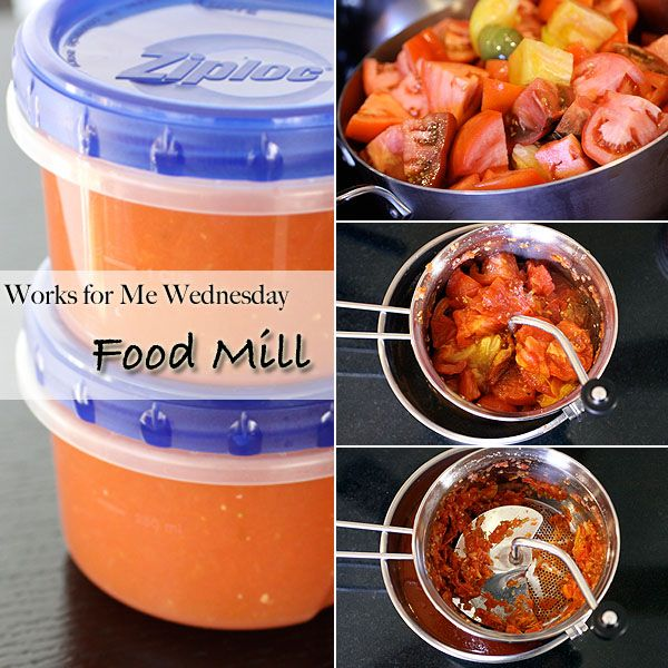 Simple Tomato Sauce with a Food Mill (WFMW) | my kitchen addiction