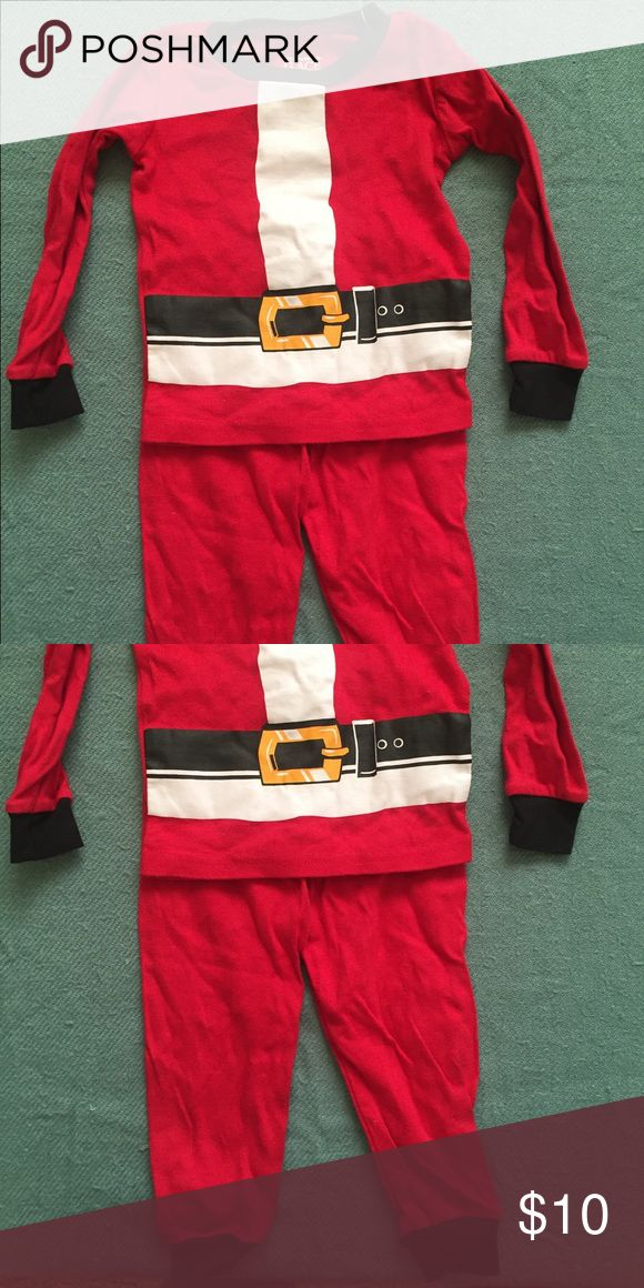 Infant Santa outfit by children's place Used Two piece set Santa pajamas Children's Place Pajamas Pajama Sets
