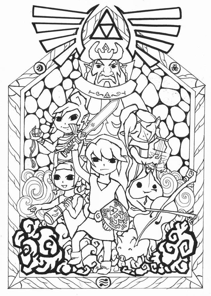 74 best images about legend of zelda coloring pages on ...