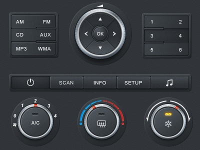 Dials & Knobs found in User Interfaces / Design Tickle