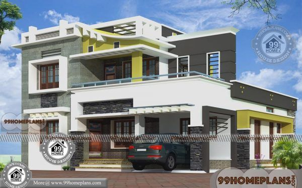 Box Type House With Rooftop Double Floor Modern Design Collections Small House Elevation Design House Plans With Pictures Small House Elevation