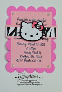 Hello Kitty Zebra Baby Shower Invitations