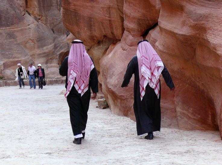 Entrando a Petra.