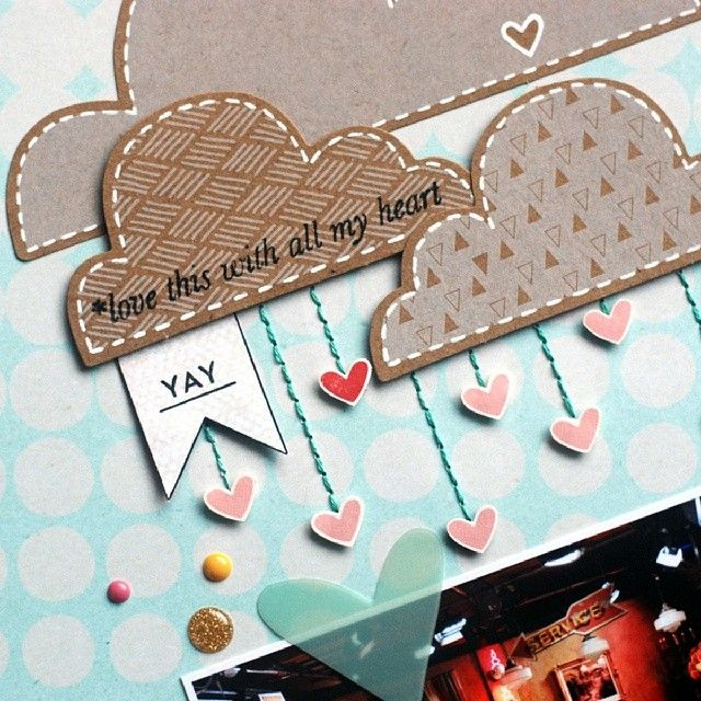 Lots of fun things in February's @Studio_Calico scrapbook kit! #studiocalico…