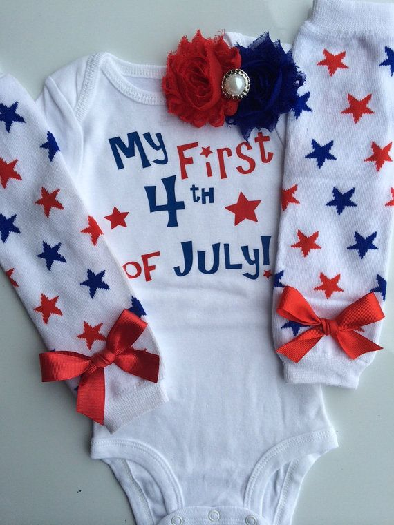 Baby Girl 4th of July outfit 4th of July leg by AboutASprout