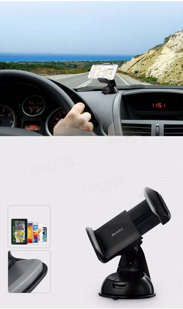 Benks universal car mount phone holder 360 rotation adjustable stand for iphone 6 6s plus samsung