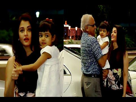 WATCH Aishwarya Rai with her daughter Aaradhya at Mumbai Airport leaving for Cannes Film Festival. See the full video at : http://youtu.be/5dRQfnjhrps #aishwaryarai #bollywood #bollywoodnews