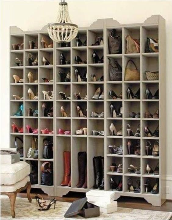 DIY:  How To Build A Ballard Designs Inspired Shoe Storage Closet - this is a great project, with detailed plans and would be a perfect storage or display piece for any area of the home!