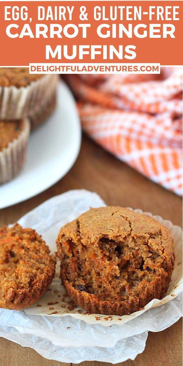 Carrot Ginger Muffins Vegan Gluten Free Delightful Adventures Recipe In 2020 Vegan Snack Recipes Vegan Snacks Easy Ginger Muffins