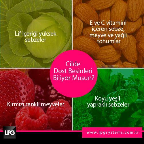 Sağlıklı ve güzel bir cilde sahip olmak için gıdalarına dikkat etmelisin wink ifade simgesi  #lpg #endermologie #sağlık #güzellik #ciltbakımı