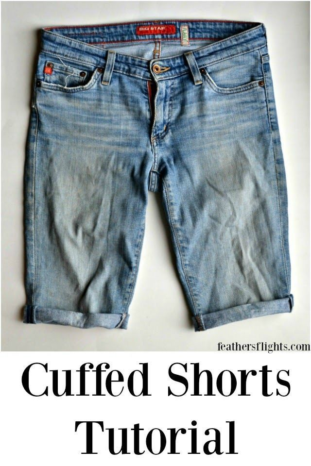 How To Hem Pants With A Cuff How To Hem Shorts With A Cuff Diy Shorts Shorts Tutorial Cuffed Shorts