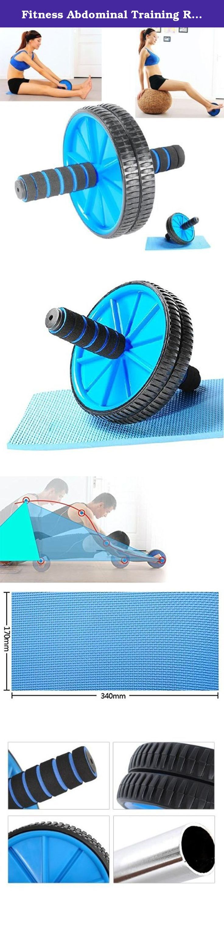 Fitness Abdominal Training Rolling Dual Wheel w/ Kneeling Pad - Blue + Black. Features: * Color: Blue + Black * Material: Steel + PVC + Silicon + Foam * Suitable for tightening up the flabby fat around your belly, waist, hip or arms * Superior engineering plastic, simple in design, aesthetic appearance,strong and durable, easy to operate * Silicon outer edge ring, concavo-convex designed, anti-slip, shock-absorbing and quiet * Thicken 2-color foam handle, improve comfor, sweat-absorbent…