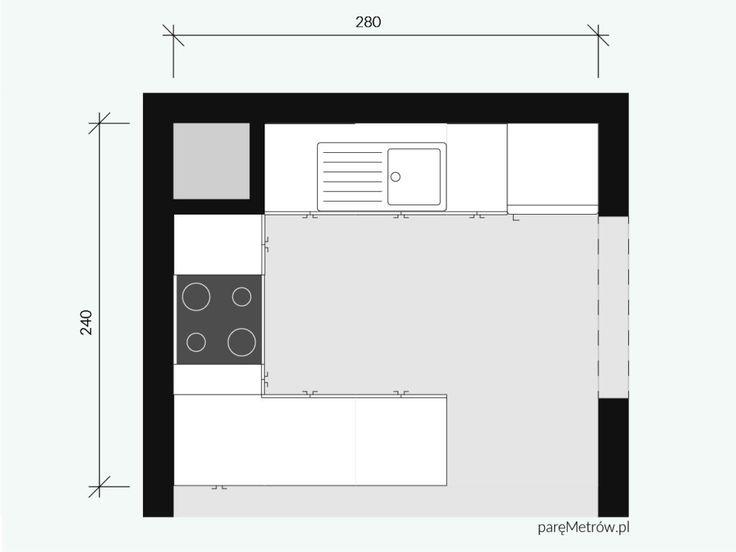 Rodzinna kuchnia   Parę Metrów  Kitchen / U-shape