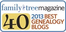 Genealogy Insider - Introducing the 2013 Family Tree 40 Genealogy Blogs!