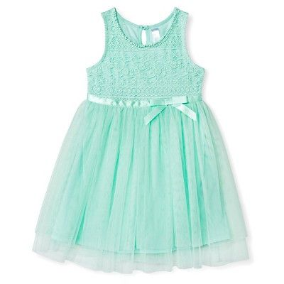Girl's Special Occasion Dress, Mint 3T