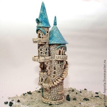 Подсвечник `Замок Гретель`. Сказочный замок из Северной Европы.  Замок, где дожидается своего принца Спящая Красавица...