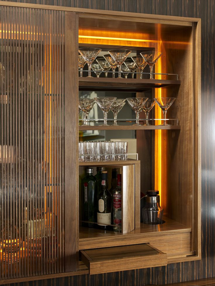 Luxury interior design bar cabinet for more inspirations for Built in drinks cabinet