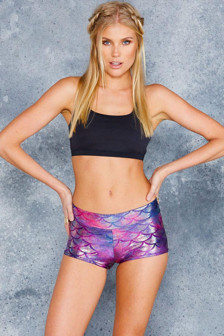 Mermaid Tie Dye Dancer Shorts - LIMITED ($50AUD) by BlackMilk Clothing