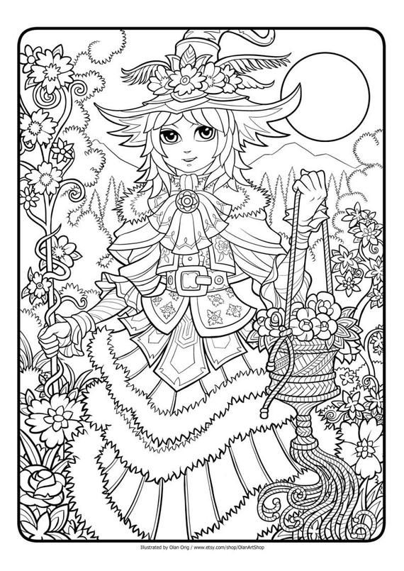Fantastic Lines No 1 Printable Coloring Page For Adults And