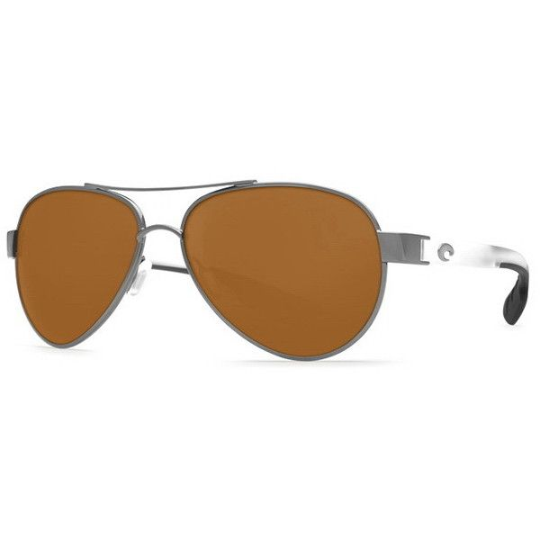 Costa Del Mar Loreto Polarized LR 74 OAP Sunglasses (€160) ❤ liked on Polyvore featuring accessories, eyewear, sunglasses, grey lens sunglasses, metal frame sunglasses, costa sunglasses, gray sunglasses and costa glasses