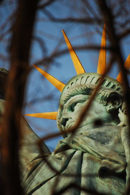 Shot of the statue of liberty on the Île des Cygnes in Paris: Photo Tasting, Airports, Lady Liberty, Lights Paris, Paris Statues, Statues Of Liberty, Liberty Shots, Branches, Paris 2009