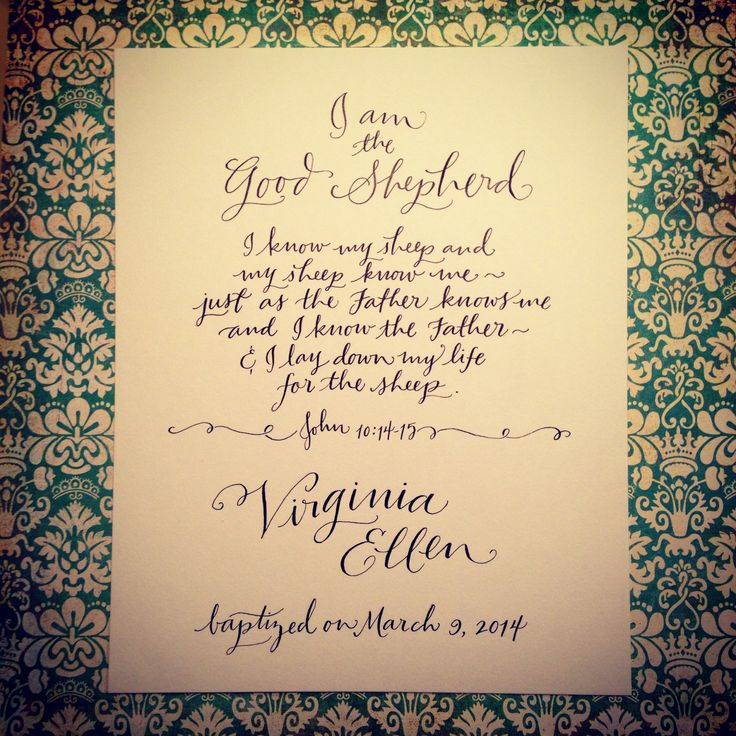 113 best Hand-Lettering Ideas images on Pinterest Calligraphy - baptism certificate