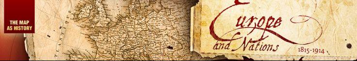 Het Congres van Wenen 1814-1815, na het verslaan van Napoleon, herverdeelt de kaart van Europa. Interactieve kaart (Engels)