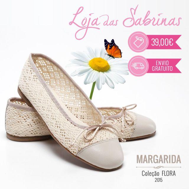 Celebra a chegada do verão com a leveza e a frescura das nossas Sabrinas Margarida! Não as deixes escapar, só estão disponíveis este mês: http://www.lojadassabrinas.com/product/margarida