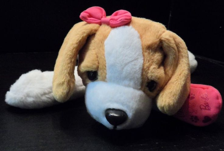 "$20.97/Interactive/Animated Plush 13"" Barbie Dog/Doggy Toy ""Hug-n Heal"" Glam Girl by Mattel.  This awesome stuffed animal Pants, sneezes, whines & barks!   Press the left paw and plush says several things:  ""wow, you're going to be a great Pet doctor!"",.... ...""Hi, it's Barbie...my puppy friend isn't feeling too well""....and more! ~view more plush toys for youth/kids/children as well as over 20 categories of merchandise in my store! I ship globally! www.shellyssweetfinds.com"