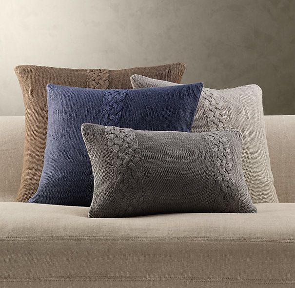 Belgian Linen Knit Pillow Covers (Restoration Hardware)